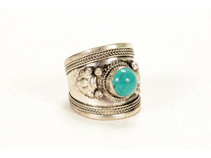 Prsten tyrkysový nezměrný