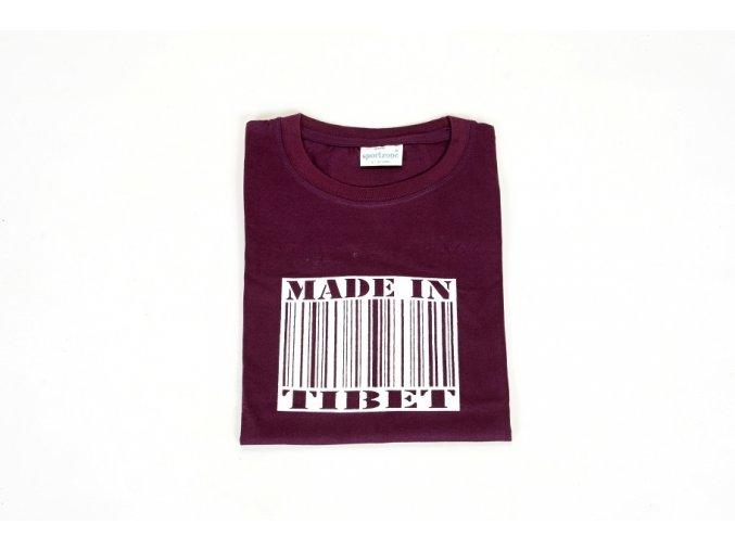 """Tričko """"Made in Tibet"""" - fialová S"""