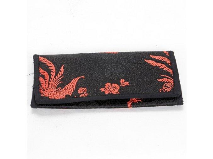 Brokátová peněženka DOLMA - černá