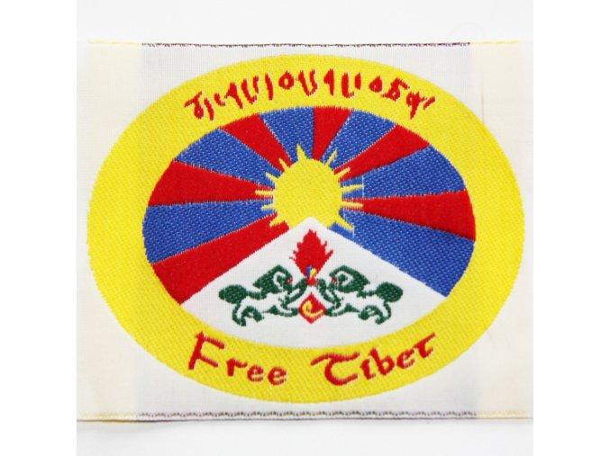 Nášivka - Tibetská vlajka oválná