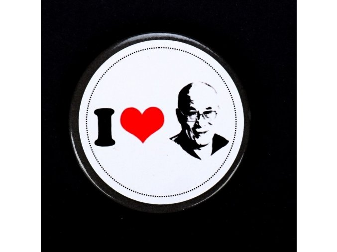 Button/Placka I love Dalailama