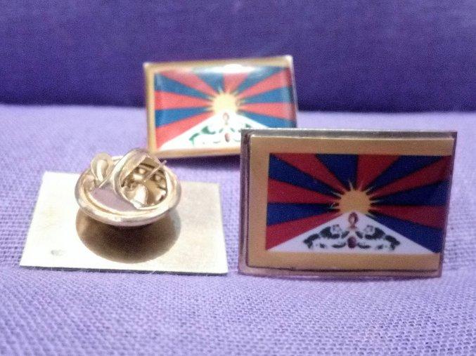 Odznak tibetská vlajka