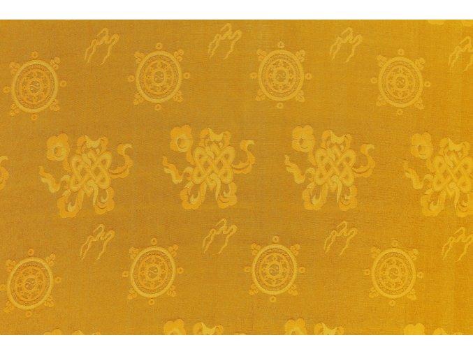 Hedvábná látka s nekonečným uzlem žlutá