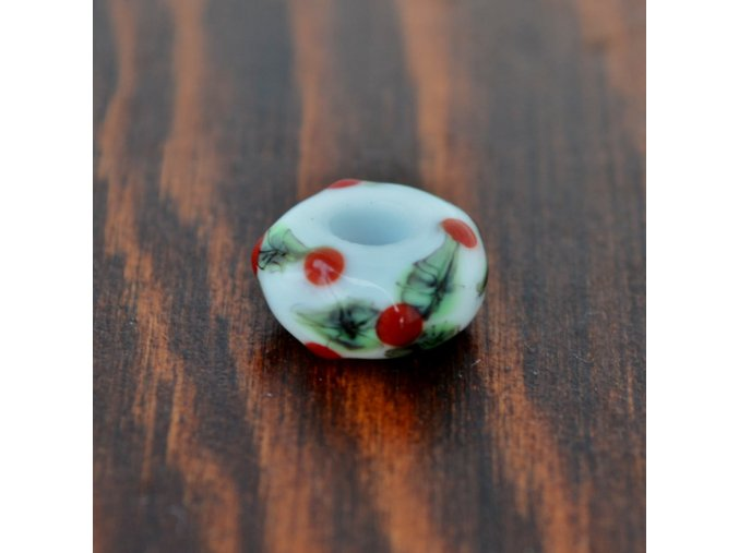 Skleněná perla lesní bobule