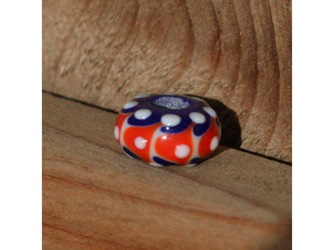 Skleněná perla klaun