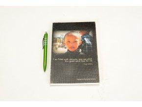 Deník s fotkou - portrét