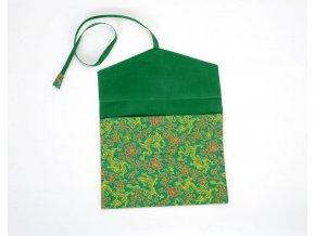 Obal na knihu A4 - lesní zelená se zelenou