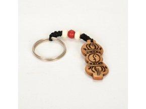 Přívěsek na klíče - Dordže Červený korálek