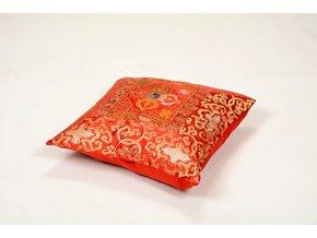 Povlak na polštář brokát - červený