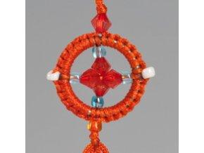 Přívěsek kolo Dharmy - oranžové