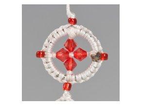 Přívěsek kolo Dharmy - bílé