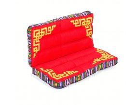 Meditační polštář malý tmavě červený