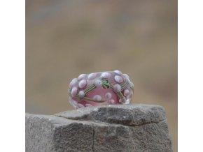 Skleněná perla kvetoucí strom Fialová