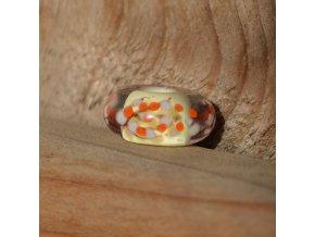 Skleněná perla květ broskvoně