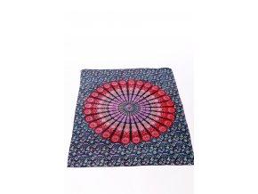 Dekorace mandala - modro-červená
