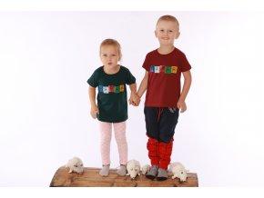 Dětské tričko praporky Lungta zelené