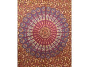 Dekorace mandala - červená, světlejší