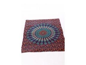 Dekorace mandala - kombinace modré, tyrkysové, červené