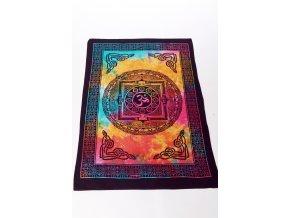 Dekorace tibetská mandala, jantra - barevná