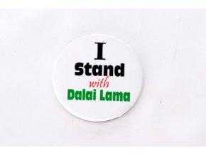 "Button ""I Stand with Dalai Lama"""