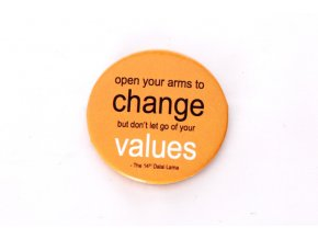 "Button ""open your arms to change..."""