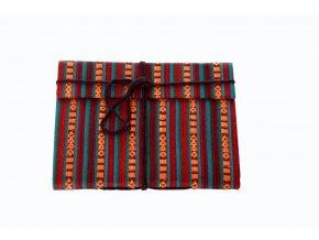 Deník z ručního papíru - červeno-oranžový