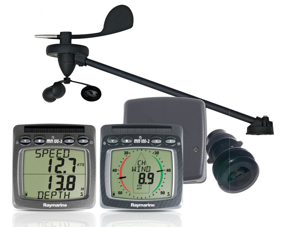 Raymarine T108-868 Tacktick MicroNet Cruising Log, Lot & Wind System, Wind & Dualdisplay mit Triducer (DST800)