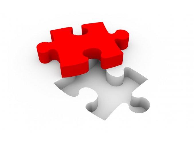 svatební puzzle samostatný dílek pozvánka