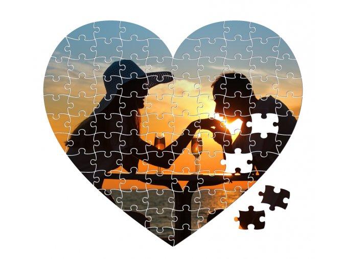 fotopuzzle srdce 92 dílků 200x175