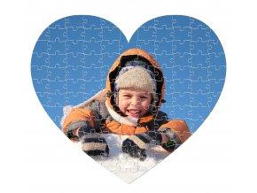fotopuzzle srdce 107 dílků 280x245