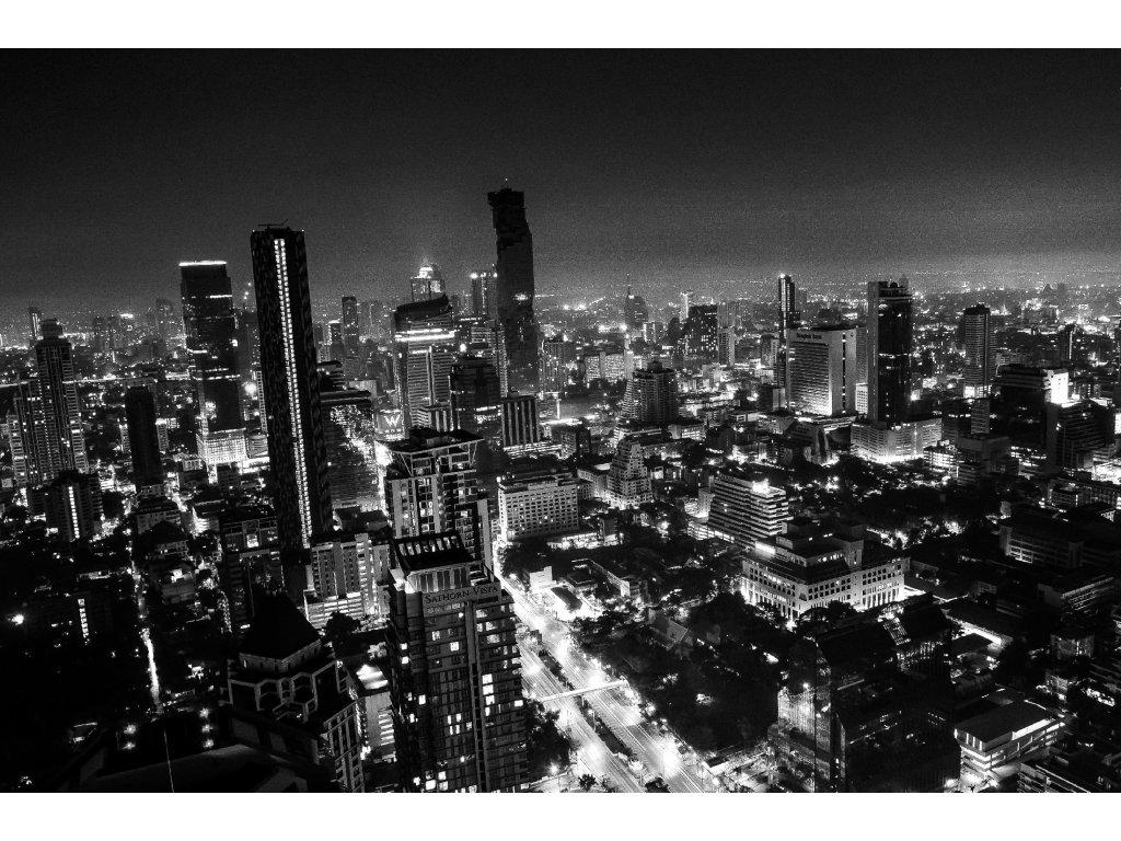 FOTOOBRAZ - Noční Bangkok (Černobílá)