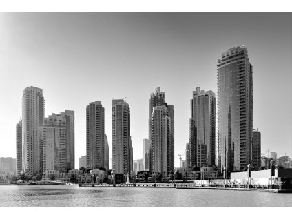 Dubai 1 Black and White