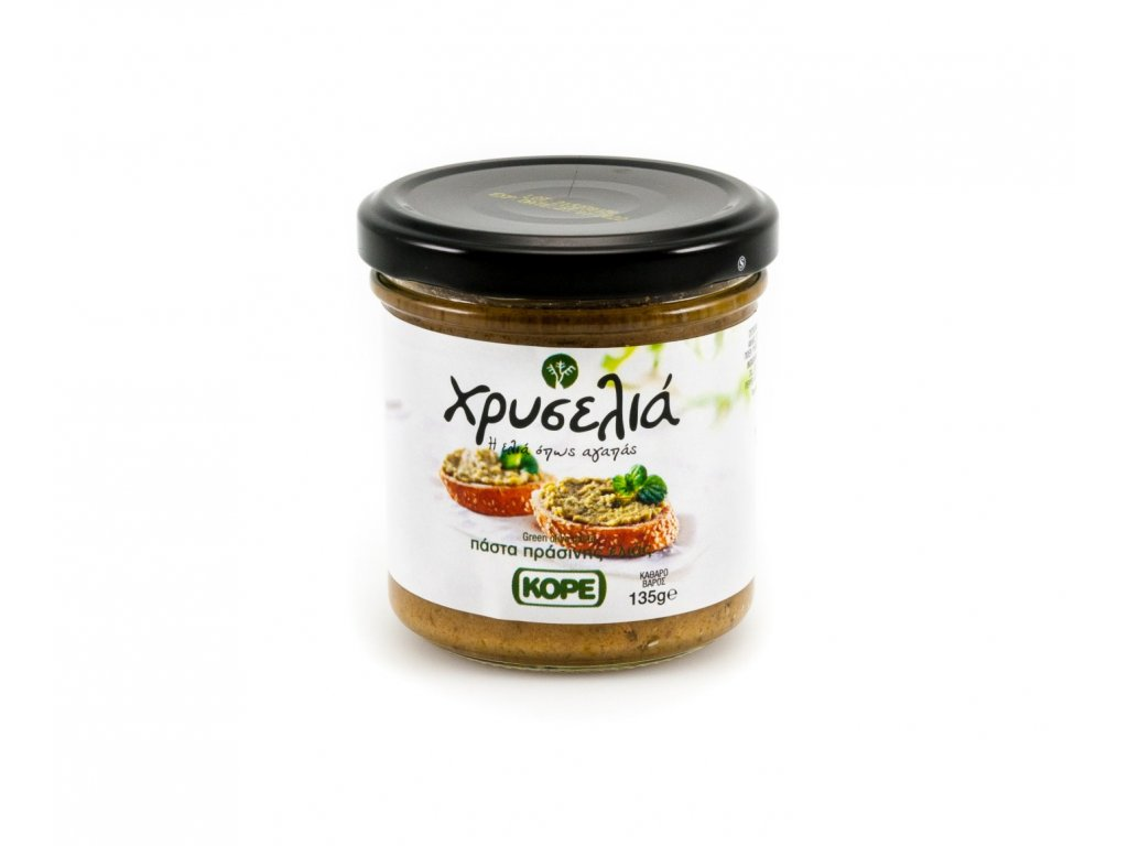 Xriselia Olivova pasta ze zelenych oliv 135g