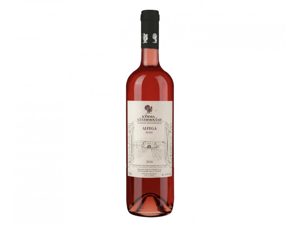 Hadzimichalis ruzove vino Alfega Rose suche 2019 13.5 750ml