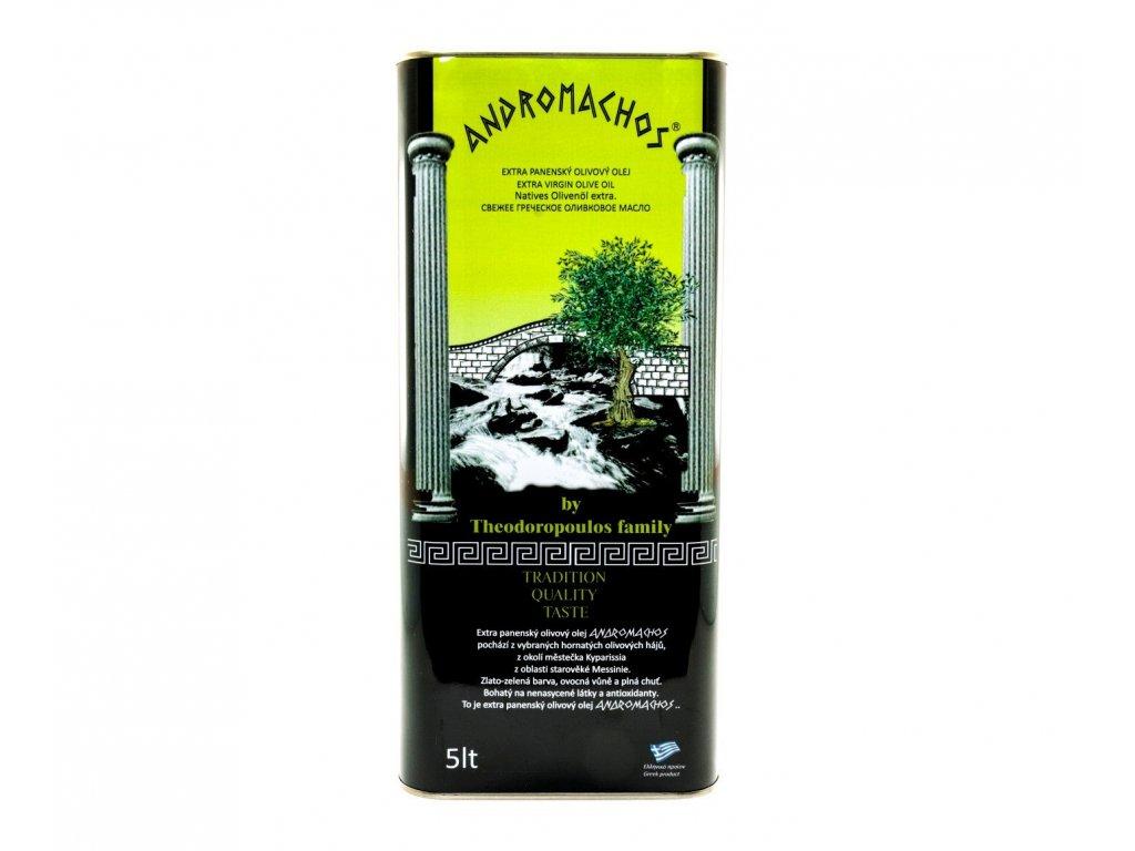 Andromachos Kyparissia Extra panensky olivovy olej 5l plech