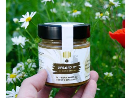Chrisomelo SPREAD IT pomazanka z medu s mletymi liskovymi orisky 250g