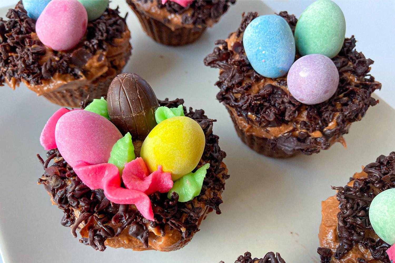 Velikonoční čokoládovo-kokosové muffiny