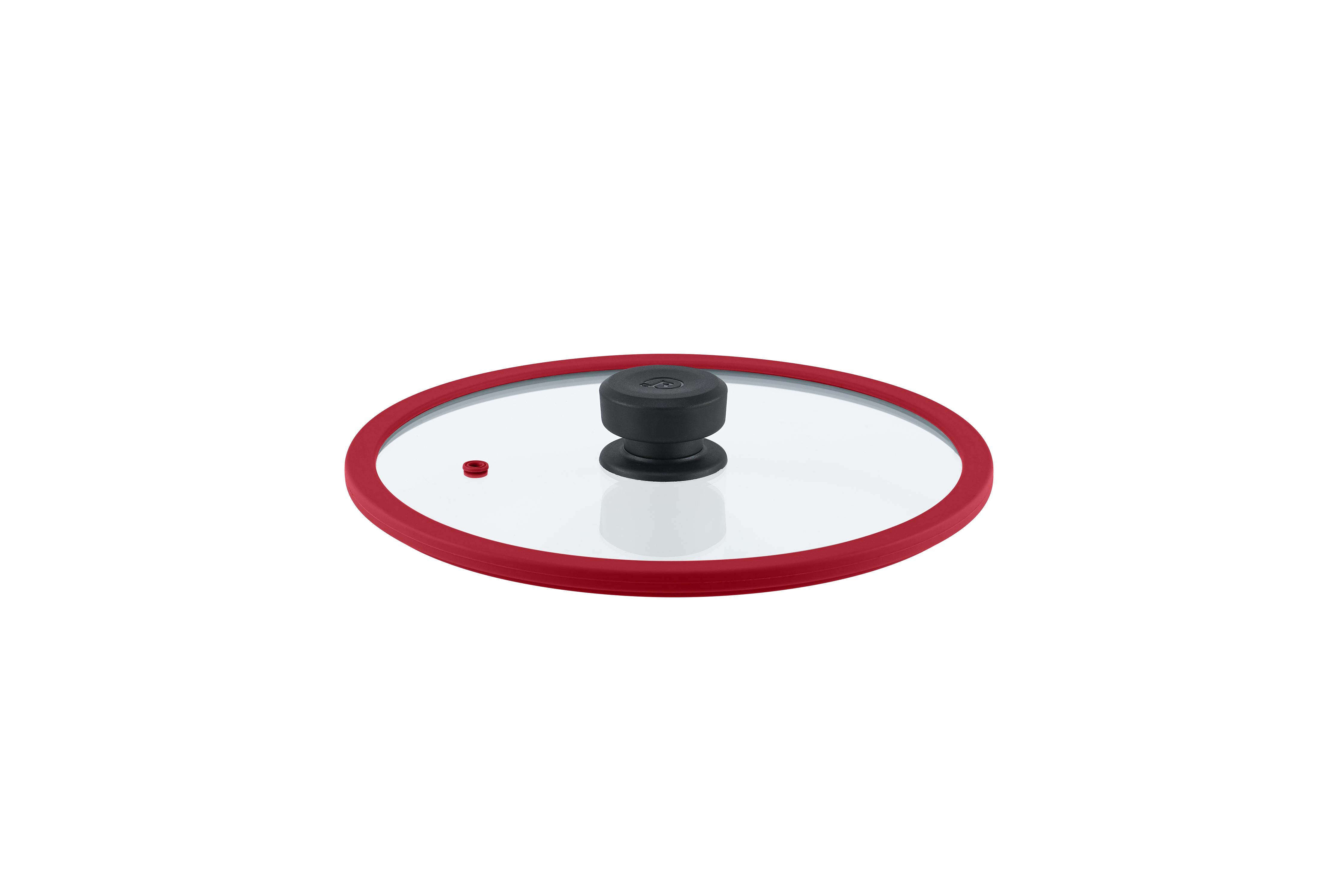 Levně Remoska Vega Skleněná poklice o průměru 28 cm Barva: Červená