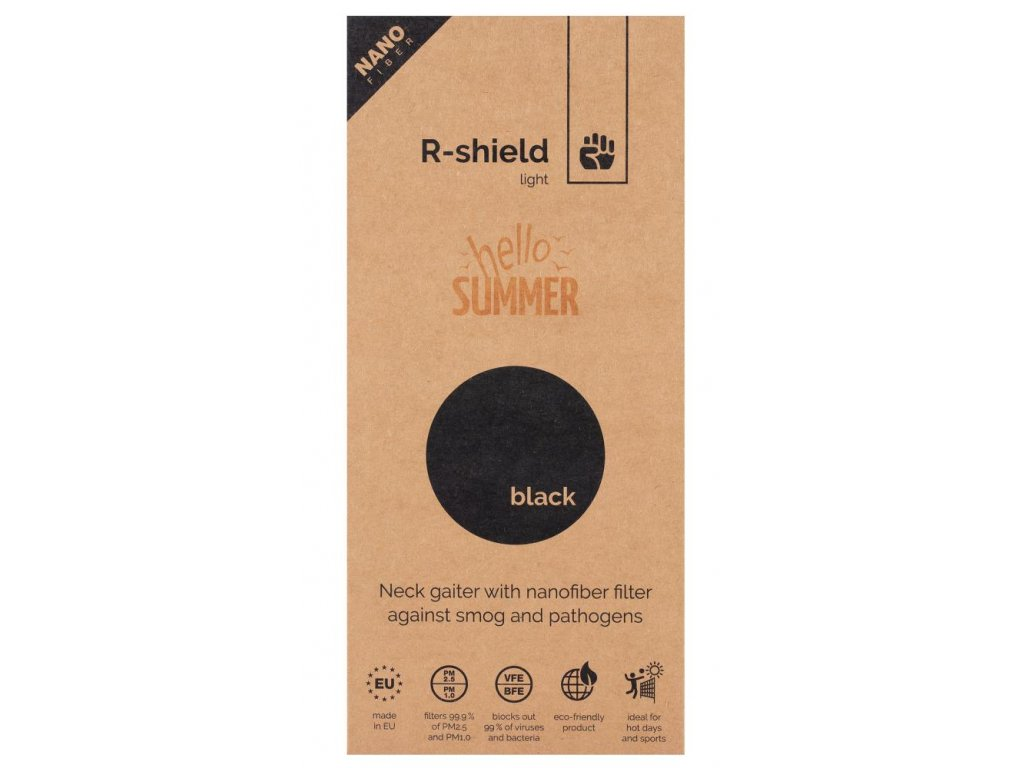 00 R shield light black