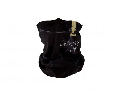 Antiviral neck gaiter R-shield Light Charity Jam Black | RESPILON