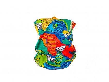 Antiviral neck gaiter R-shield Light Parrot for kids | RESPILON