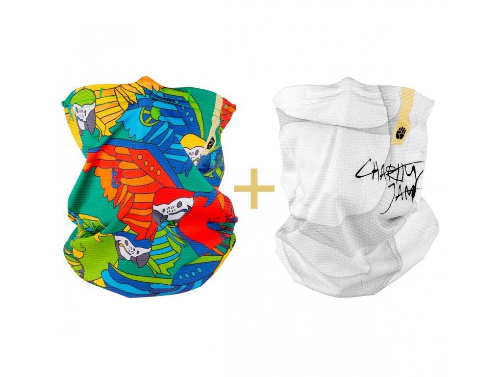 Antivirový nano šátek R-shield Light Parrot | RESPILON