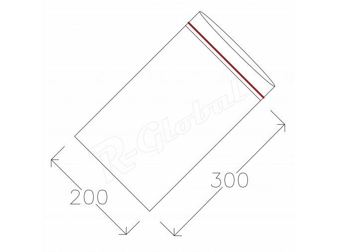 Rýchlozatváracie vrecká 200 x 300 mm