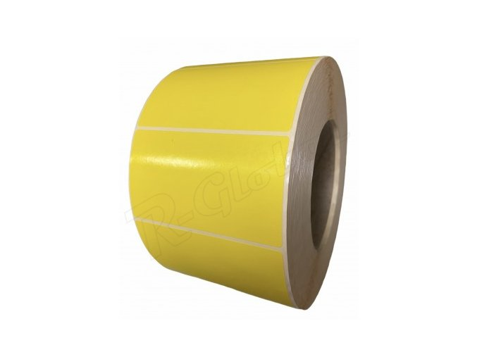 Žlté etikety 90 x 50 mm R-Global