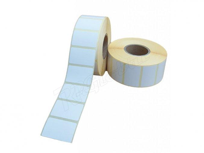 Papierová etiketa  40 x 80 mm