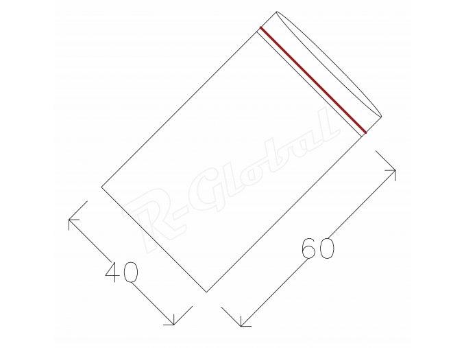 Rýchlozatváracie vrecká 40  x 60 mm