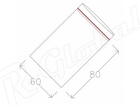 Rýchlozatváracie vrecká 60 x 80 mm