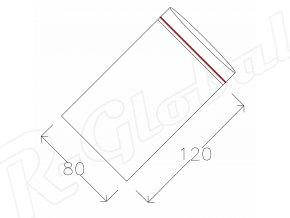 Rýchlozatváracie vrecká 80 x 120 mm