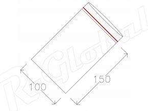 Rýchlozatváracie vrecká 100 x 150 mm