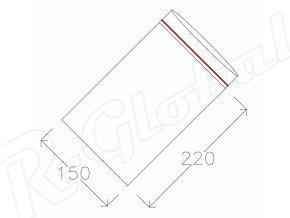 Rýchlozatváracie vrecká 150 x 220 mm